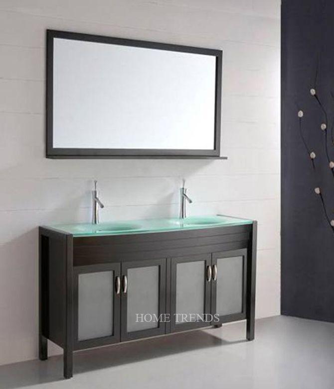 Paris 60-Inch Espresso Double-Sink Bathroom Vanity With Mirrors 24 best top 10: bathroom vanities images on pinterest | double