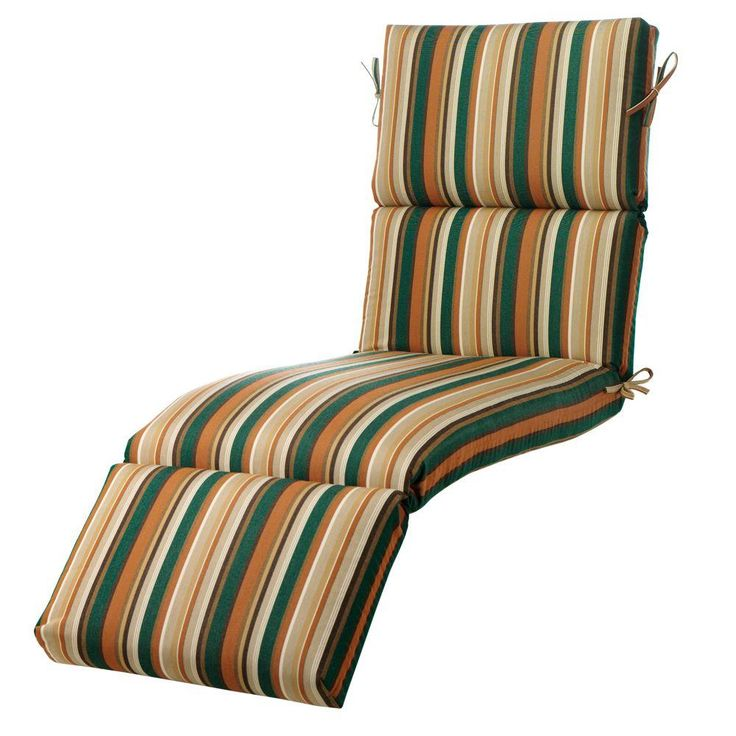 Home Decorators Collection Rustic Stripe Outdoor Chaise Lounge Cushion