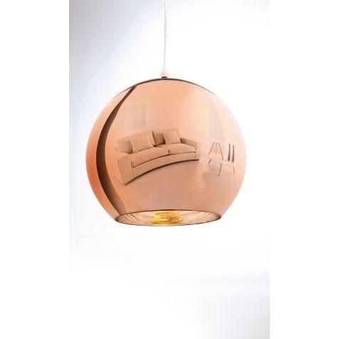"""Deckenleuchte """"Kupfer"""", Metall und Glas Katalogbild"""