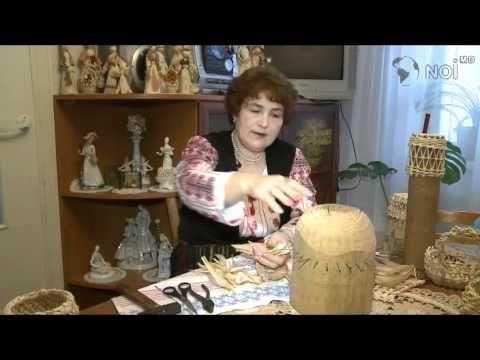 Техника плетения из оберток початков кукурузы - YouTube