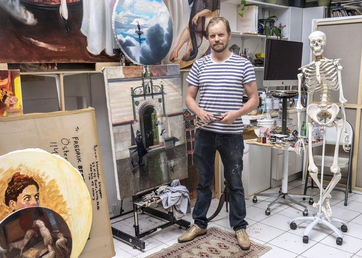Swedish artist Alexander Klingspor in NYC