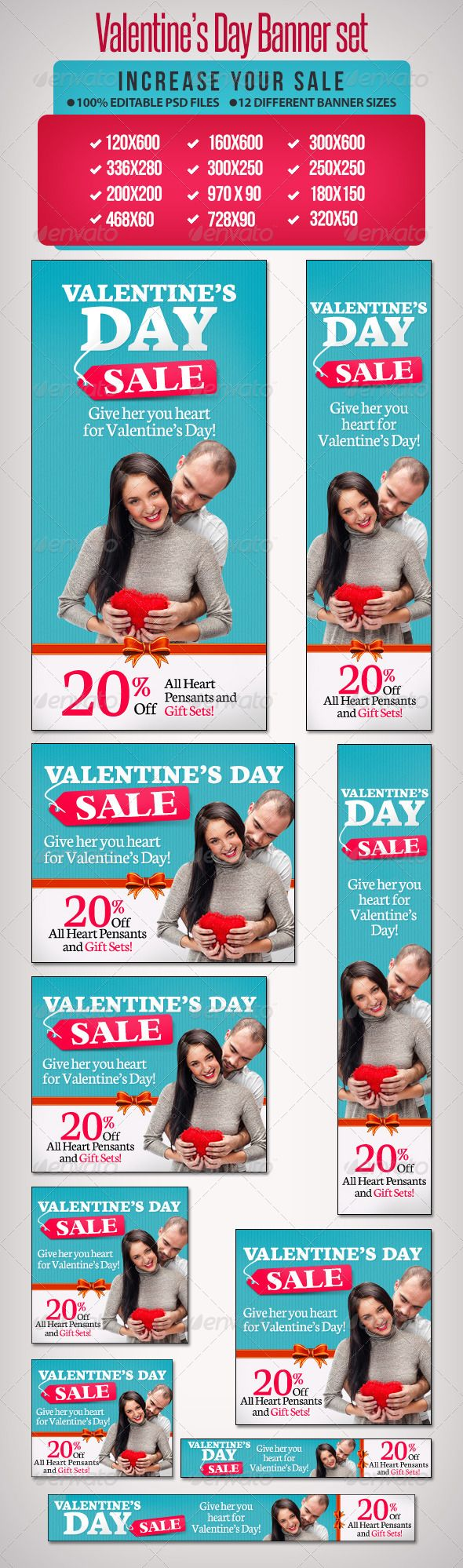 Valentine's Day Web Banner Set Template PSD | Buy and Download: http://graphicriver.net/item/-valentines-day-banner-set-4/6598648?WT.ac=category_thumb&WT.z_author=BannerDesignCo&ref=ksioks