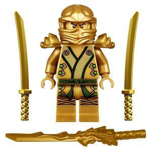 Nuevo Lego Ninjago Golden Ninja Minifig 9450 Minifigura Figura Oro Lloyd Zx De Juguete