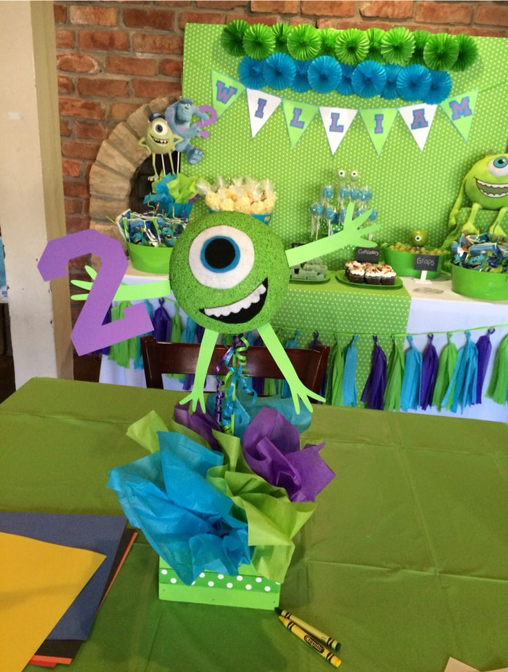 Monsters University Centerpiece by Bizzie Bee Creations