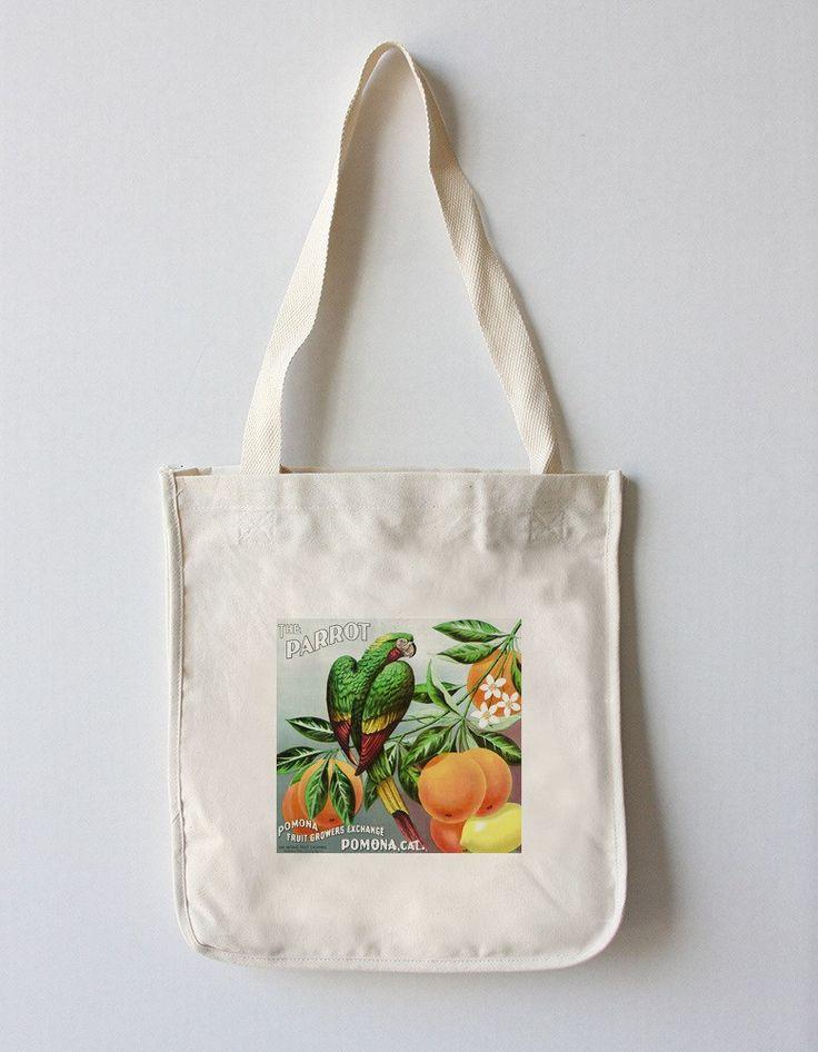 Pomona, California - The Parrot Brand Citrus - Vintage Label