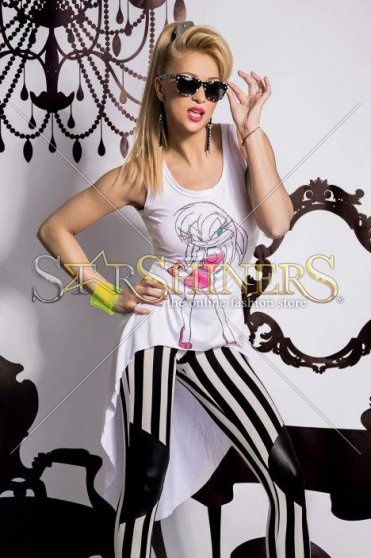 Top Mexton Crazy Girl White