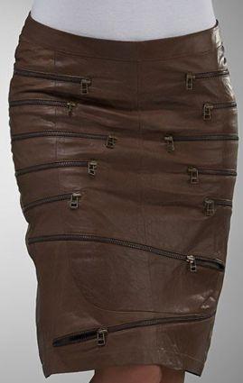 Необычные кожаные юбки