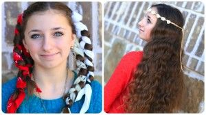 No-Heat Bandana Curls  Cute Girls Hairstyles
