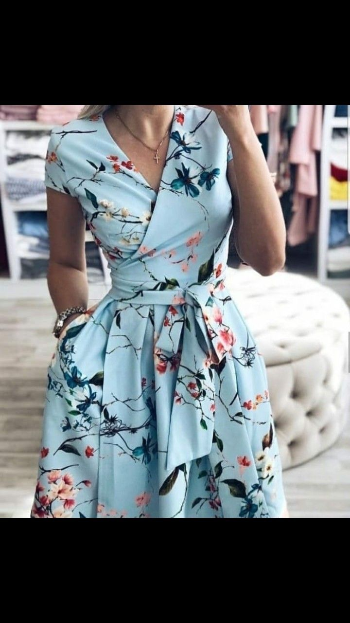 Spring wrap dress – #dress #pockets #spring #Wrap