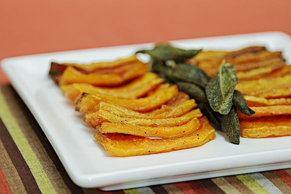 Roasted Butternut Squash with Garlic and Sage Recipe
