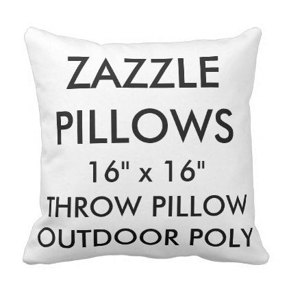 Zazzle Custom Outdoor Throw Pillow Blank Template - outdoor gifts unique cyo personalize