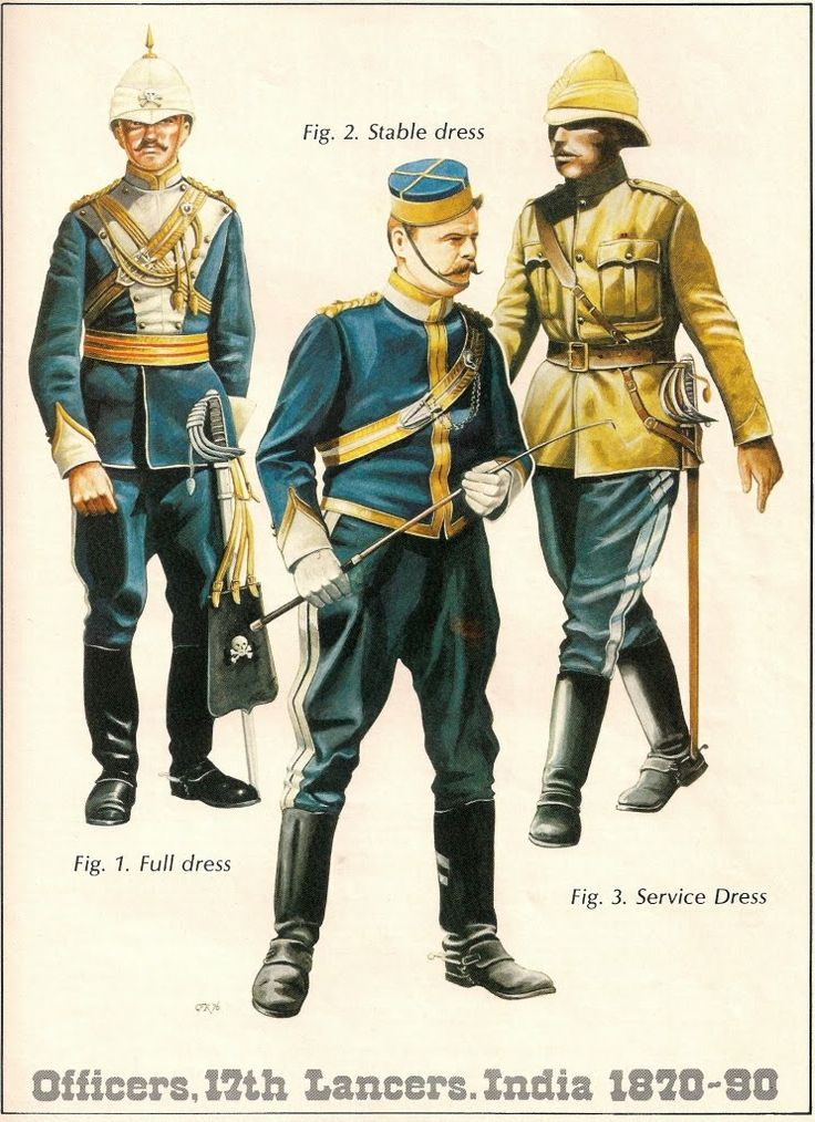 Officers 17th Lancers India 1870-1890 By Chris Rothero. Originally published in Military Modelling Magazine
