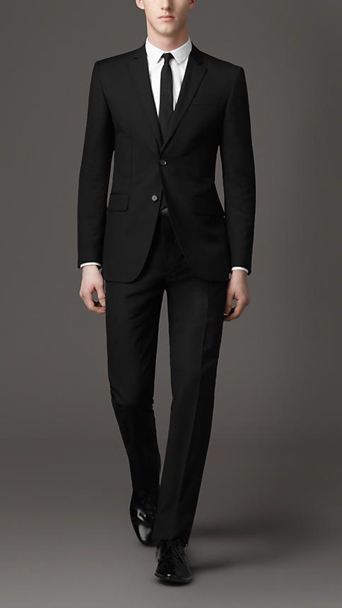 another black suit...: Modern Fit, Fit Sartori, Black Suits Men, Men'S S,  Suits Of Clothing, Sartori Suits, Burberry Suits, Fit Wool, Wool Suits