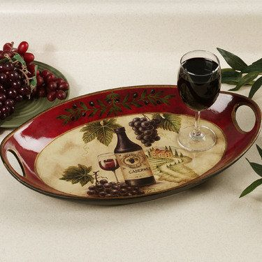 Villa Cabernet serving tray & 507 best Wine themed decorating images on Pinterest | Home ideas ...