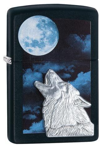 28879, Moon & Howlin' Wolf, Emblem, Color Image, Black Matte, Classic Case