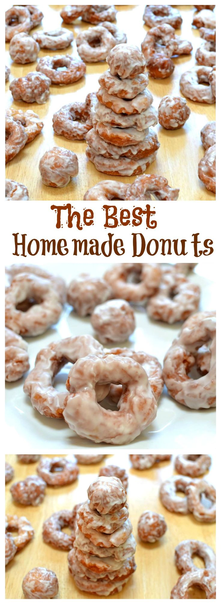 You'll never try another donut recipe again once you taste these, a fun afternoon project with a sweet reward! #Donuts #Breakfast