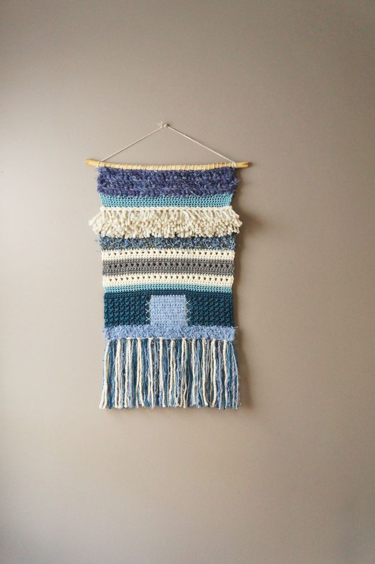 best modern boho home decor images on pinterest  wall  - modern wall hanging by lemon cucullu