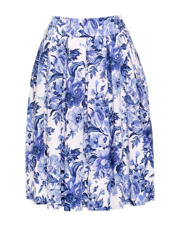 Jellicoe Skirt | China Blue Floral | Skirt
