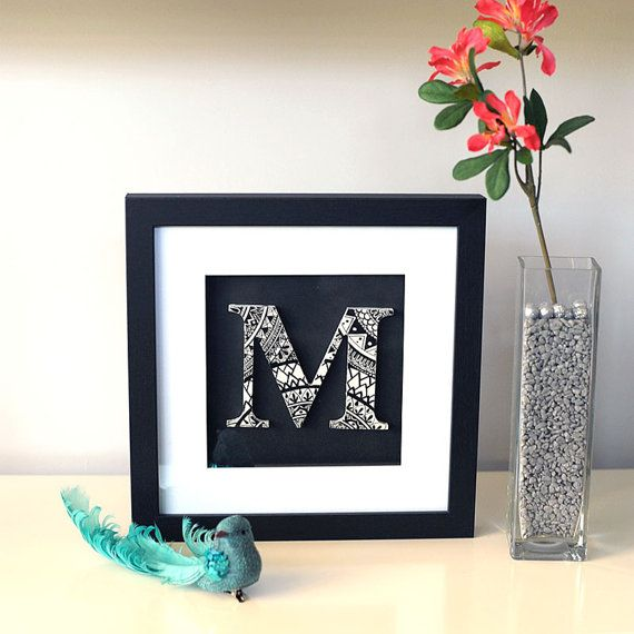 Personalised Mandala Letter Personalised by SolCreationsArtwork