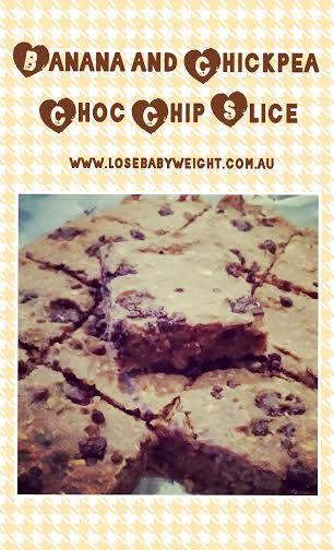 Banana And Chickpea Choc Chip Slice