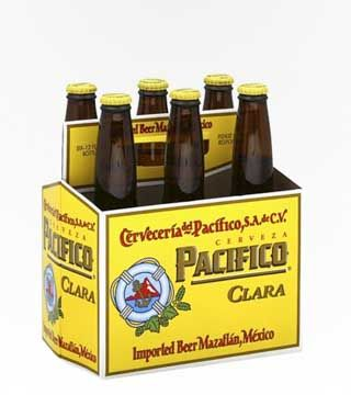"""Pacifico - $10.87 Pacifico is brewed by Grupo Modelo, one of the largest cerveza breweries in Mexico. It's a crips pilsner style lager that's called """"Clara"""" in Spanish, which means clear, or blonde. Pairs perfectly with traditional Mexican food, and works especially well with fish tacos!"""
