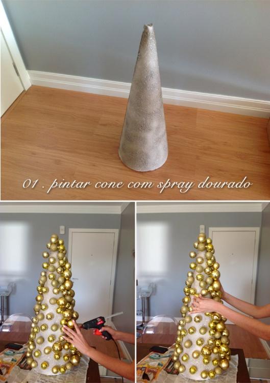 how to make a christmas tree with styrofoam