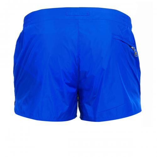 NYLON BOARDSHORTS WITH ELASTIC ADJUSTABLE WAISTBAND - Pupboy II nylon Boardshorts with an elastic adjustable waistband, internal mesh, a zippered back pocket. #mrbeachwear #beachwear #swimshort #summer #beach #mens #fashion #orlebarbrown #lightblue