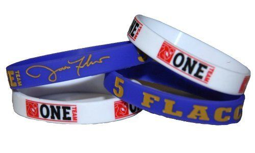 NFL Baltimore #5 Joe Flacco Official Signature Wristband With Bonus NFLPA One Team Football Wristband (Large) by Official Signature Products. $7.65. Show off your support for your favorite NFL player with this officially licensed debossed silicone wristband from Official Signature Products and the NFL Players Association. This band is available in Medium or Large size. Large (8.25 inches around) is the standard size for adults, while Medium (7 inches around) is recommended ...