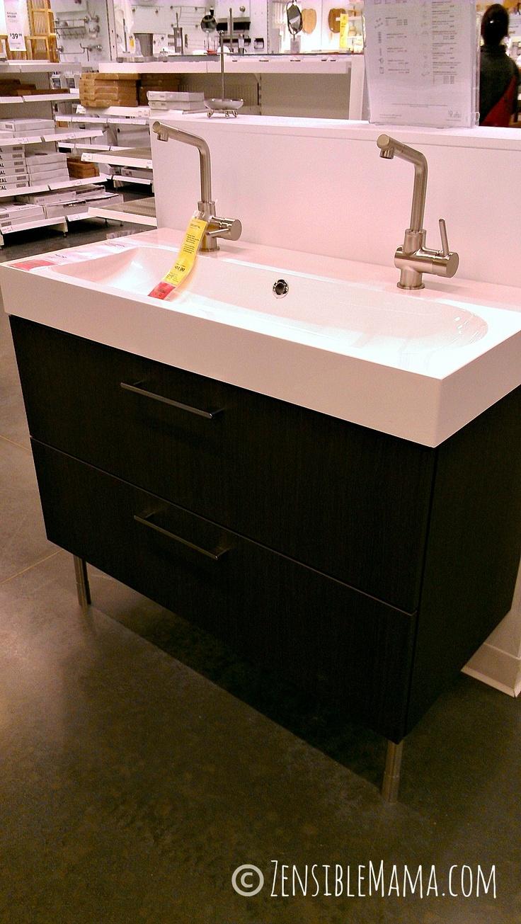 For guestroom or master 39 s bathroom br viken sink for Black bathroom drawers