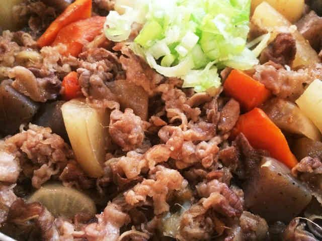 牛バラ薄切り肉でがっつり煮込みの画像