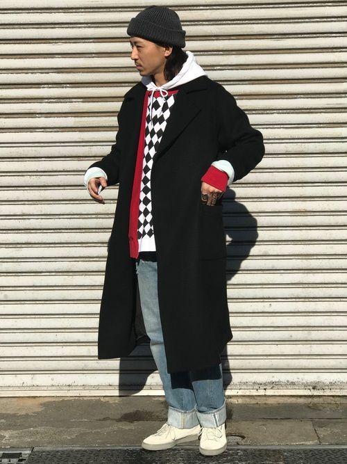 オーバーコートはストリートっぽく着てもお洒落に着れます。 コート=きれいめ このイメージが変わります