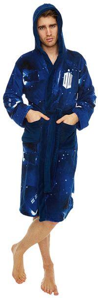 Doctor Who - Tardis/Dalek Bathrobe with hood  #fathersdaygifts #giftsformen #giftsfordads