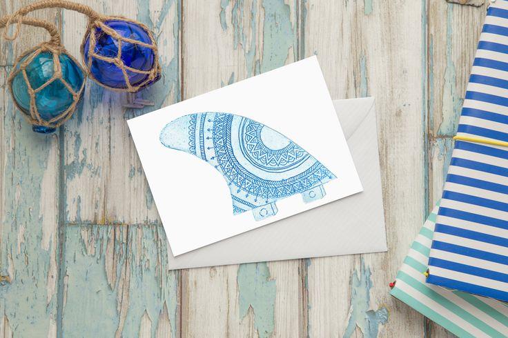 Mermaid's Coin - Blue Fin Card