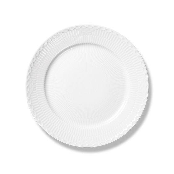 Royal Copenhagen White Fluted Half Lace Plate 19 cm