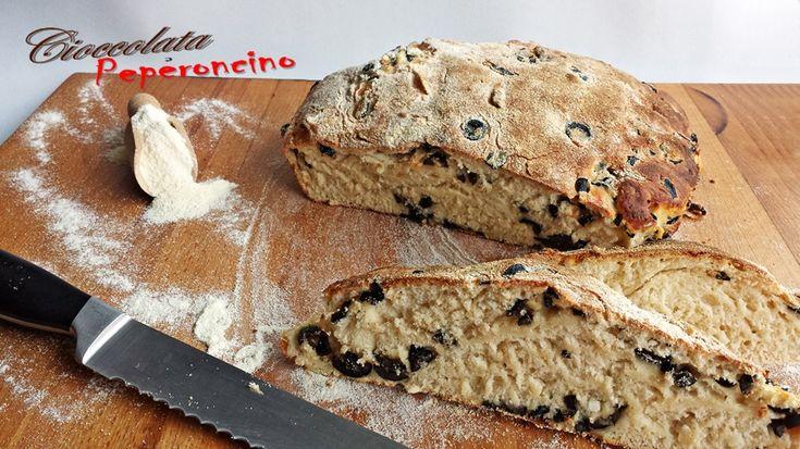 Pane greco feta e olive nere