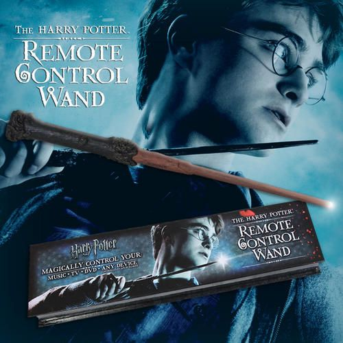 Harry Potter Remote Control Wand Price:$54.95 Magically control a television or any other infrared controlled device with this Harry Potter remote control wand! Perfect as a gift or simply to show your friends you are a master of wizardry by changing channels, volume or more on your television, DVD player or music device.