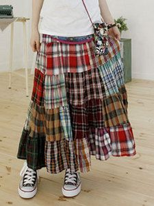 Patchwork skirt. I don't usually do checks or tartan or plaid or whatever you want to call it but I could so rock this skirt this coming autumn :)
