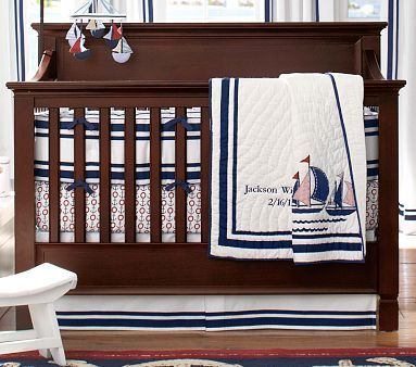Harper Boats Nursery Bedding Set #pbkids  http://www.potterybarnkids.com/products/boats-and-harper-nursery-bedding-set/?pkey=cnursery-bedding-sets&