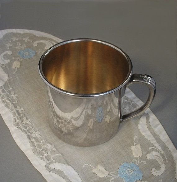 17 Best Images About Vintage Silver Silverplate Baby Cups