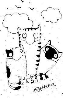 меловые рисунки на доске кошки - Поиск в Google
