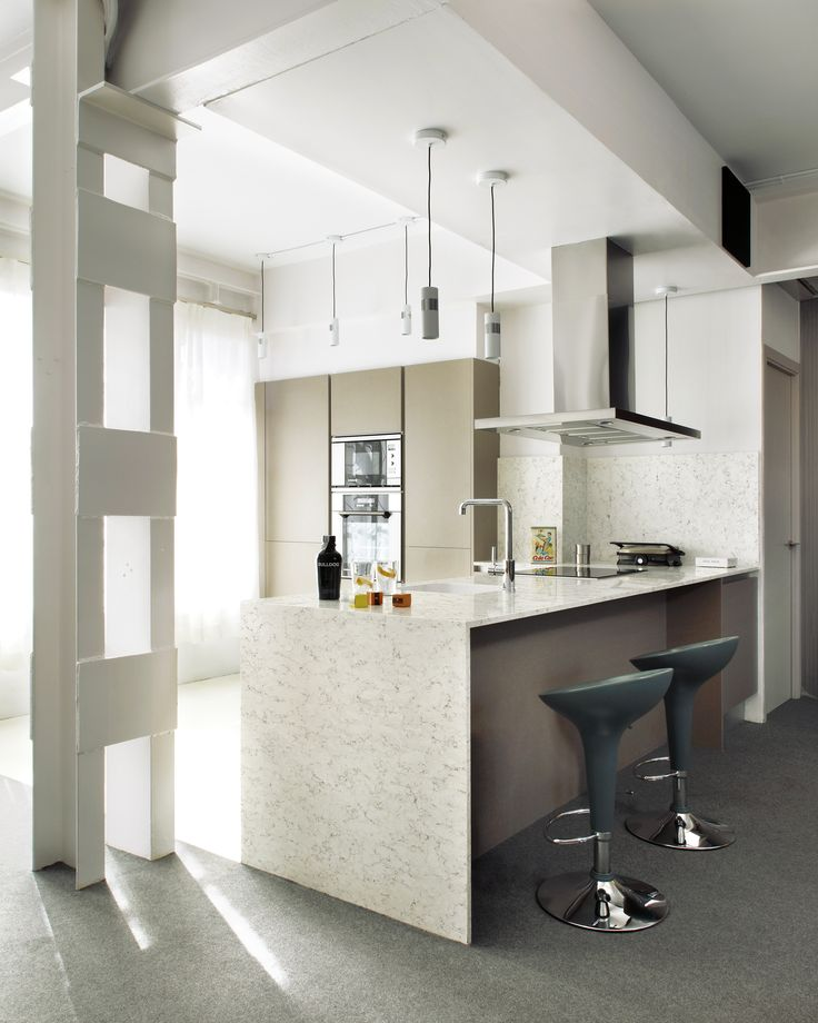 A Modern Kitchen Is The Definition Of A Simple And Functional Space, In  Which Colors Like Silestone Blanco Orion Set The