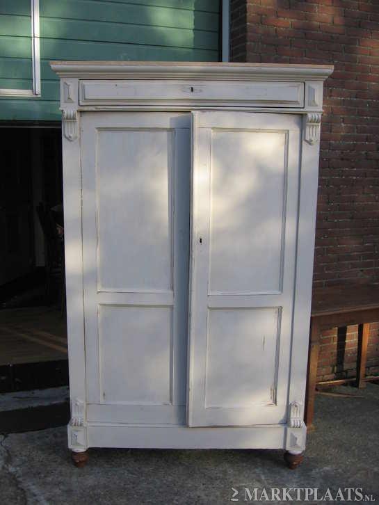 Iets minder breed, kast van een kringloop Marktplaats.nl > antieke kast in brocante uitvoering - Huis en Inrichting - Kasten | Kledingkasten