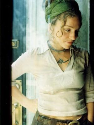 """At the age of 19, Ani DiFranco started her own recording label, """"Righteous Records"""".  """"It's interesting, because since the beginning, since I started writing little poems, of course my identity as a woman has informed my writing.  Everything from how i perceive the world to the experiences I have, to, I think the way I play the guitar."""""""