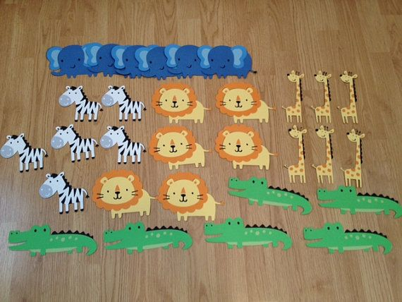 10 Jungle Safari Animals for Birthday Party or by AngiesDesignz, $15.00