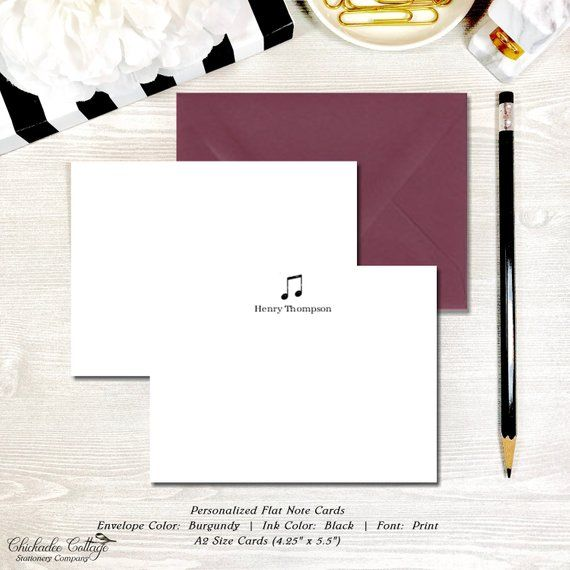 12 Notecards Teacher Gift -Greeting Card Custom Note Cards Personalized Note Cards Cards with Envelopes Flat and Folded Note Cards