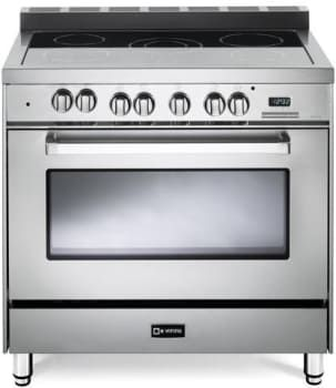$2700 ELECTRIC Verona VEFSEE365 36 Inch Freestanding Electric Range with 4.0 cu. ft. Convection Oven, 5-Burner Cooktop with 7,900 Watts, 7 Cooking Modes, 2 Heavy Duty Racks, Digital Clock and Timer and Storage Drawer