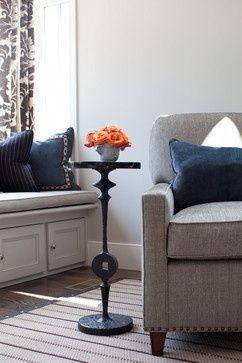 Good color scheme - Navy blue, gray, poppy/coral/orange
