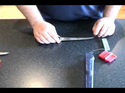 How To Sharpen A Fillet Knife - YouTube