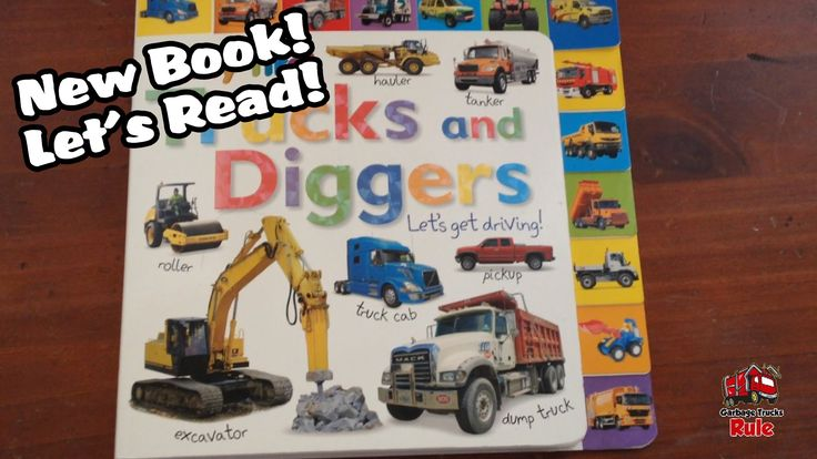 Trucks and Diggers Book! Let's Read! Garbage Trucks ...