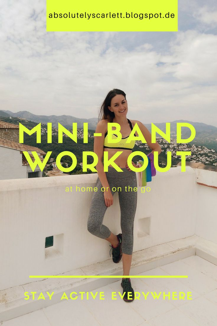 An easy and quick workout for vacation, on the go or at home! // Ein einfaches und schnelles Workout für Unterwegs oder zu Hause #workout #minibands #fitness #sport #exercise #fitgirl